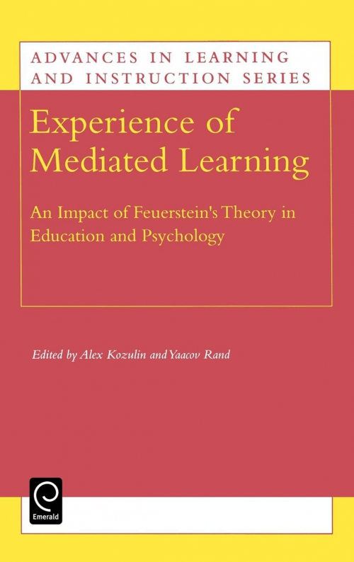 Emerald Title Detail Experience Of Mediated Learning By Alex Kozulin