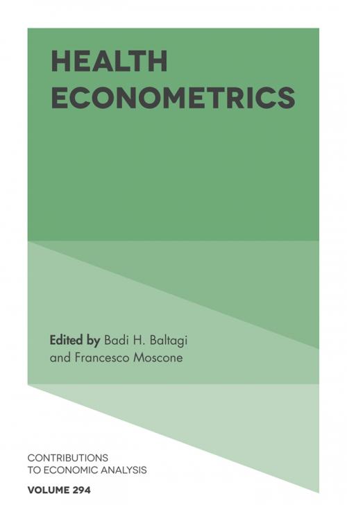 Emerald: Title Detail: Health Econometrics by Badi H  Baltagi