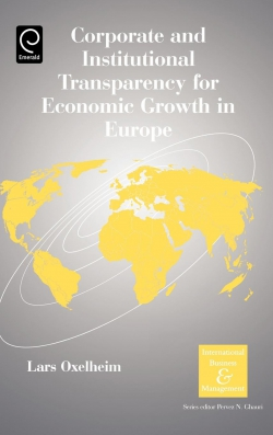 Jacket image for Corporate and Institutional Transparency for Economic Growth in Europe