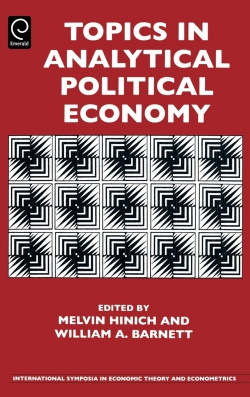 Jacket image for Topics in Analytical Political Economy