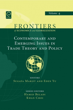 Jacket image for Contemporary and Emerging Issues in Trade Theory and Policy