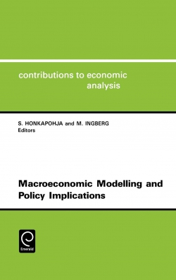 Jacket image for Macroeconomic Modelling and Policy Implications