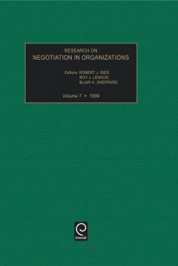 Jacket image for Research on Negotiation in Organizations