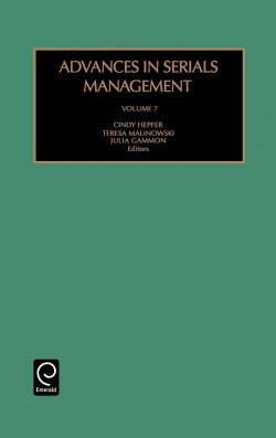 Jacket image for Advances in Serials Management