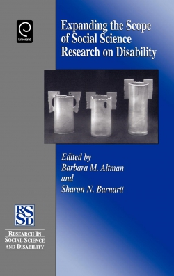 Jacket image for Expanding the Scope of Social Science Research on Disability