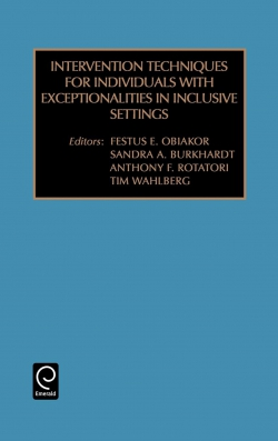 Jacket image for Intervention Techniques for Individuals with Exceptionalities in Inclusive Settings