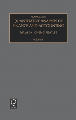 Jacket image for Advances in Quantitative Analysis of Finance and Accounting