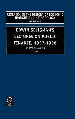 Jacket image for Edwin Seligman's Lectures on Public Finance, 1927/1928