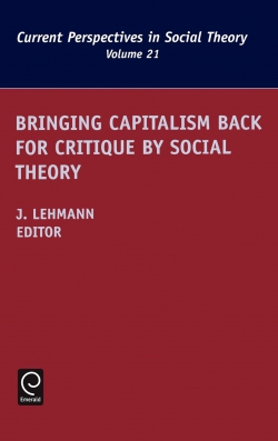 Jacket image for Bringing Capitalism Back for Critique by Social Theory