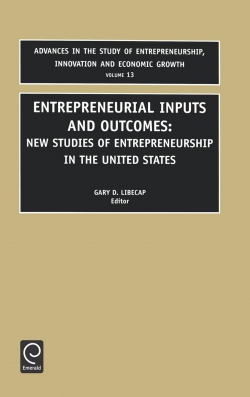 Jacket image for Entrepreneurial Inputs and Outcomes