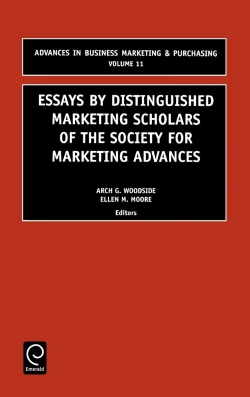 Jacket image for Essays by Distinguished Marketing Scholars of the Society for Marketing Advances