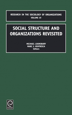 Jacket image for Social Structure and Organizations Revisited