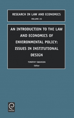 Jacket image for Introduction to the Law and Economics of Environmental Policy