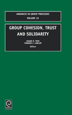 Jacket image for Group Cohesion, Trust and Solidarity