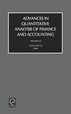 Jacket image for Advances in Quantitive Analysis of Finance and Accounting