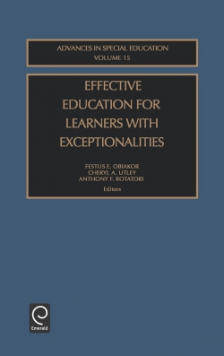 Jacket image for Effective Education for Learners with Exceptionalities