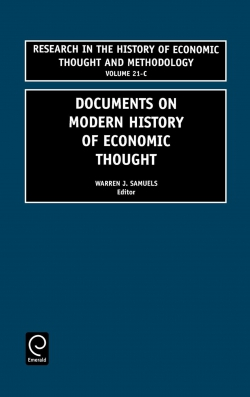 Jacket image for Documents on Modern History of Economic Thought