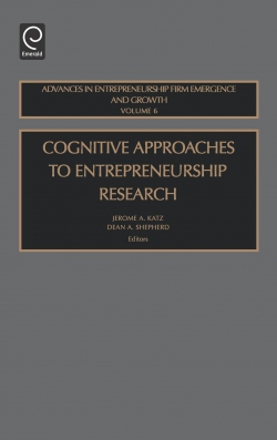 Jacket image for Cognitive Approaches to Entrepreneurship Research