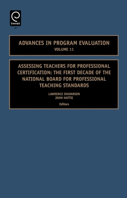 Jacket image for Assessing Teachers for Professional Certification