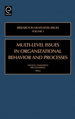 Jacket image for Multi-level Issues in Organizational Behavior and Processes