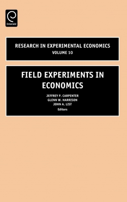 Jacket image for Field Experiments in Economics