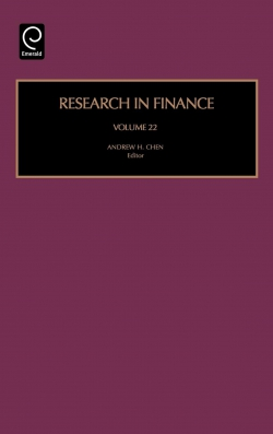 Jacket image for Research in Finance