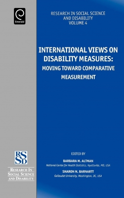 Jacket image for International Views on Disability Measures