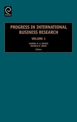 Jacket image for Progress in International Business Research