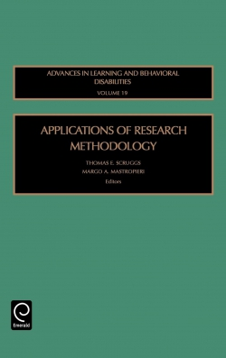 Jacket image for Applications of Research Methodology