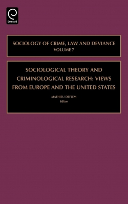 Jacket image for Sociological Theory and Criminological Research