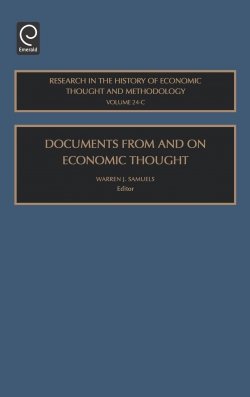 Jacket image for Documents From and On Economic Thought