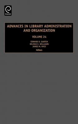 Jacket image for Advances in Library Administration and Organization