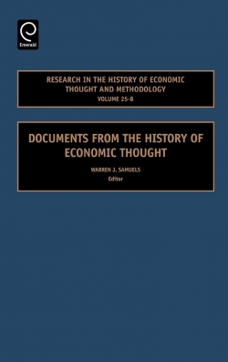 Jacket image for Documents from the History of Economic Thought