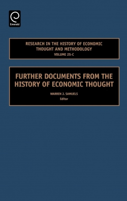 Jacket image for Further Documents from the History of Economic Thought