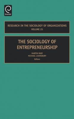 Jacket image for The Sociology of Entrepreneurship