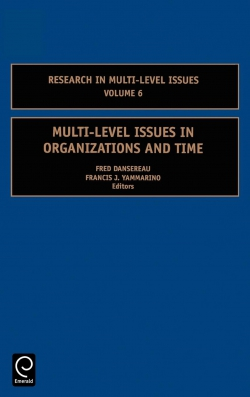 Jacket image for Multi-Level Issues in Organizations and Time