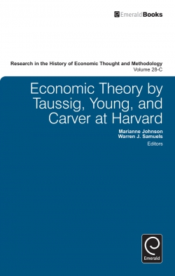 Jacket image for Economic Theory by Taussig, Young, and Carver at Harvard