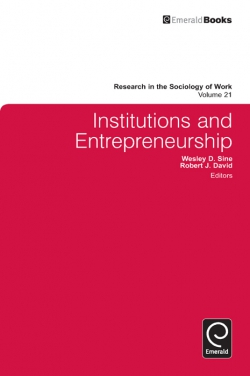 Jacket image for Institutions and Entrepreneurship