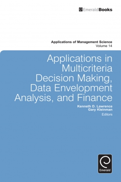 Jacket image for Applications in Multi-criteria Decision Making, Data Envelopment Analysis, and Finance