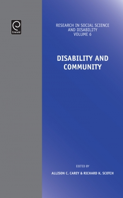 Jacket image for Disability and Community