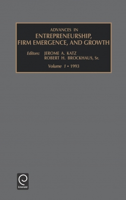 Jacket image for Advances in Entrepreneurship, Firm Emergence and Growth