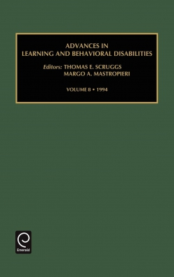 Jacket image for Advances in Learning and Behavioural Disabilities