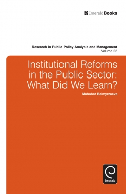 Jacket image for Institutional Reforms in the Public Sector