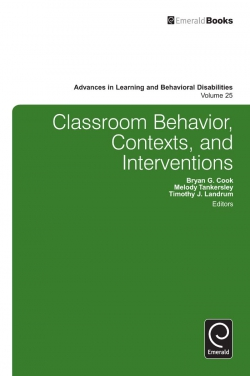 Jacket image for Classroom Behavior, Contexts, and Interventions