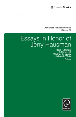 Jacket image for Essays in Honor of Jerry Hausman