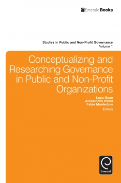 Jacket image for Conceptualizing and Researching Governance in Public and Non-Profit Organizations