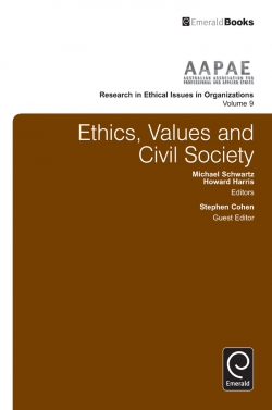 Jacket image for Ethics, Values and Civil Society