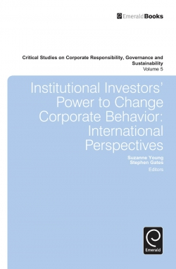 Jacket image for Institutional Investors' Power to Change Corporate Behavior