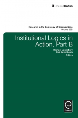 Jacket image for Institutional Logics in Action