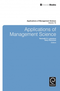 Jacket image for Applications of Management Science